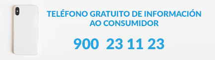 Banner do teléfono gratuito do consumidor