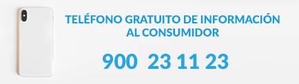 Banner del teléfono gratuito del consumidor