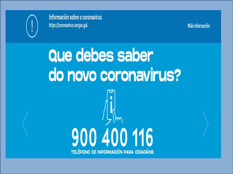 banner Sergas coronavirus