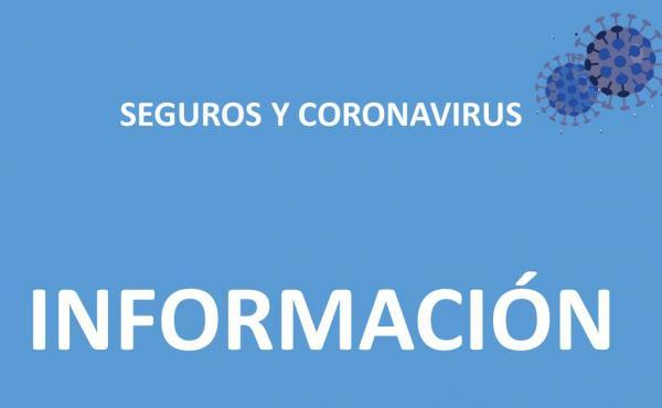 Informacións sobre seguros y coronavirus