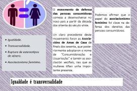 Folleto  da  Escola Galega de Consumo  con motivo do día Internacional da Muller