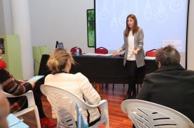 A directora xeral de Comercio e Consumo, Sol Vázquez,  na Estrada