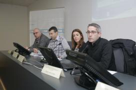 A presidenta do Instituto Galego de Consumo, Sol Vázquez, abriu unha xornada na que se presentou o simulador eléctrico do IGC