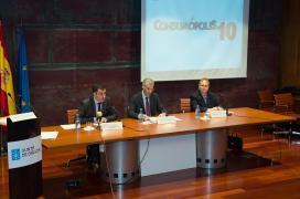 O conselleiro de Economía e Industria, Francisco Conde, e o conselleiro de Cultura, Educación e Ordenación Universitaria