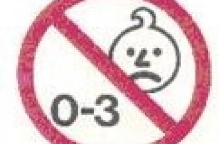 pictograma perigo nenos entre esa idade