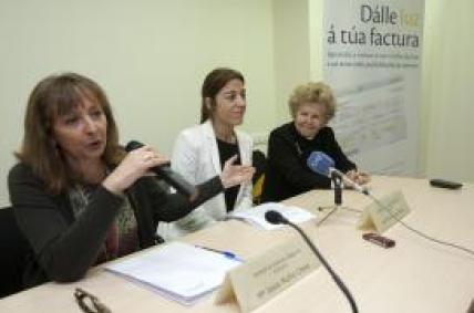 Sol Vázquez durante a xornada informativa