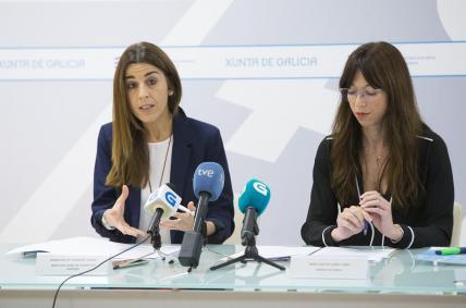 A directora xeral de Comercio e Consumo, Sol Vázquez, e a xerente do Inega, Zeltia Lado, presentaron hoxe a iniciativa